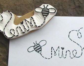 bee mine bumble stamp