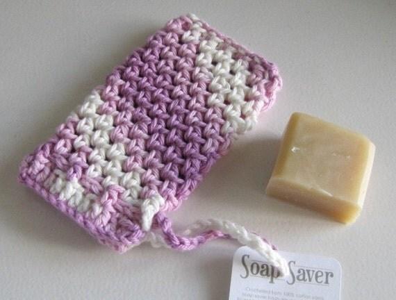 Lilac Soap Saver 100 percent cotton