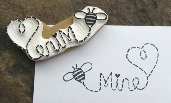 bee mine bumble stamp