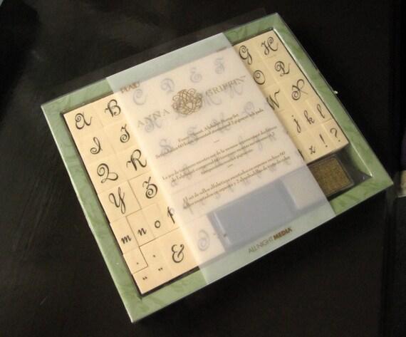 DESTASH sale - Anna Griffin foam mounted stamp set- alphabet