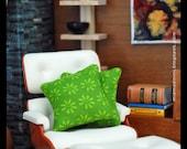 Modern Dollhouse Decorator Throw Pillows Cushions Doll House Set of Two