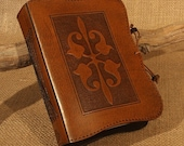 A6, Standard, Leather Bound Journal, Art Nouveau Journal, Edwardian, Brown Leather, Leather Notebook, Guestbook, Blank Book, Personalized.