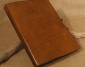 Large - Classic Brown Hand Bound Leather Journal