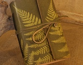 Standard - Leather Ghost Fern Wraparound Journal in Green and Slate