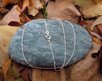 """20"""" Sterling Silver Ball Chain"""