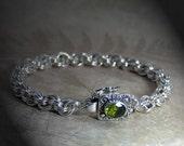 Peridot, Sterling Silver Bracelet - Isak