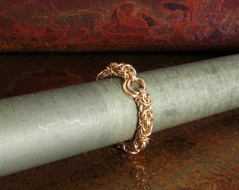Gold Stackable Ring Right Hand Chainmaille