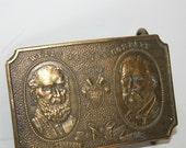 Vintage Wells Fargo Belt Buckle Brass Tiffany
