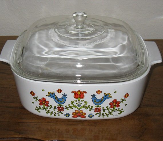 Corning Ware 4 Qt Quart Casserole Dish Covered Pan Friendship