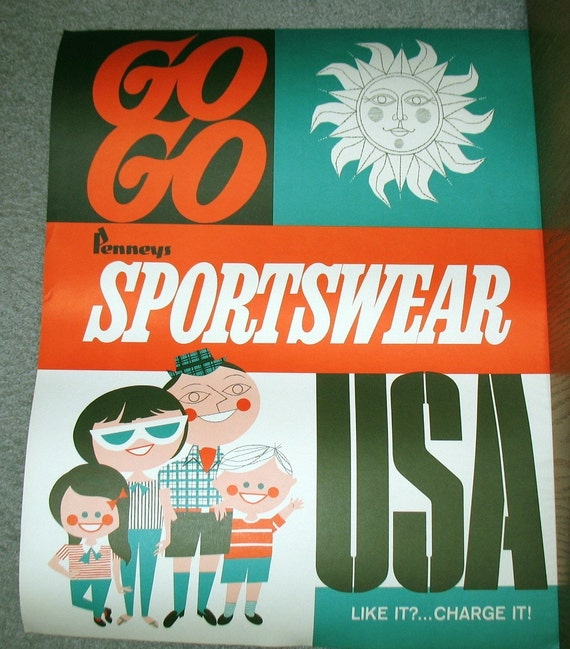 JCPenney Vintage Poster Sportswear Clothing Credit Card