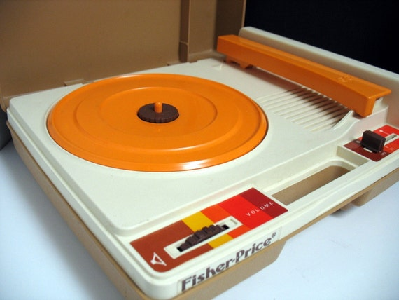 Vintage Fisher Price Record Player Childs Kids 1978 Phonograph