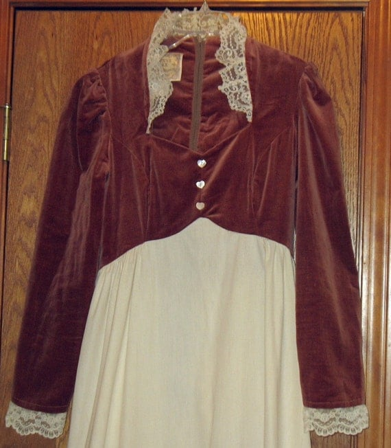 Vintage Gunne Sax Jessica Dress Boho Hippie Renaissance Gown Small