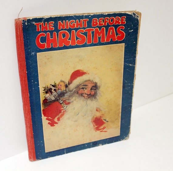 The Night Before Christmas Book 1920s Saalfield Childrens