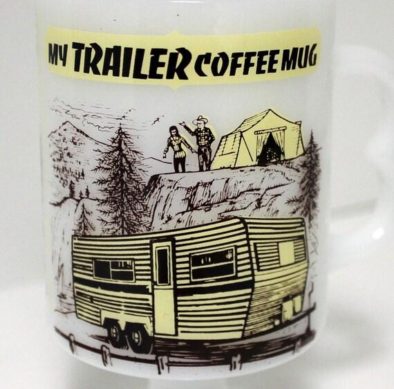 Vintage Camp Trailer Mug Coffee Cup 1970s Mac-Lun 70s