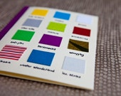 Holiday Swatch Cards-5 pack