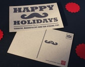 Fan-stache-tic Holiday Postcards-10 pack