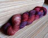 Sock Yarn Merino Wool Hand dyed Fingering Weight