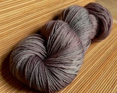 SW Sock Yarn Merino Wool Hand Dyed Gray