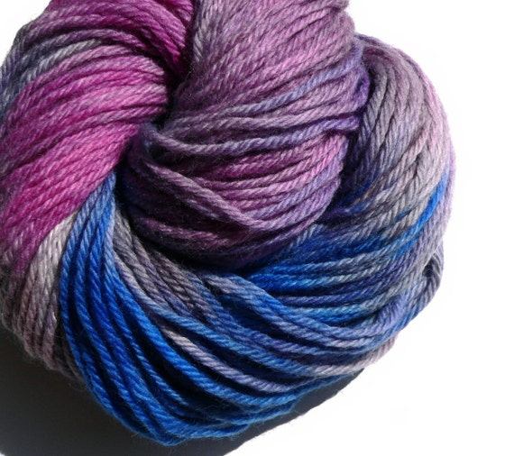 Hand dyed Bulky Weight Yarn 137 Yards  Wool Bonny