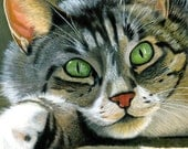 """Realistic Custom 12x12"""" Painting of your Favorite Cat"""