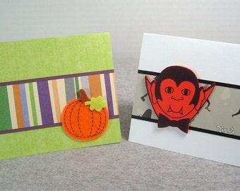 Pumpkins and Vampires Halloween Cards 4x5.5 (2)