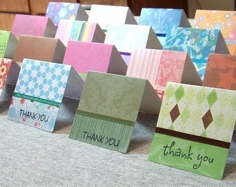 Assorted Mini Thank You Cards 2x2 (20)