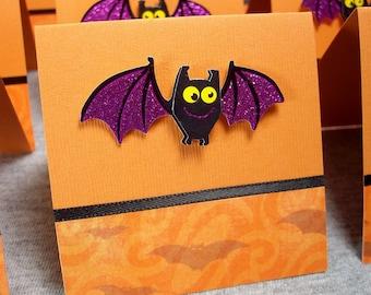 Halloween Bats Blank Note Cards 3x3 (8)