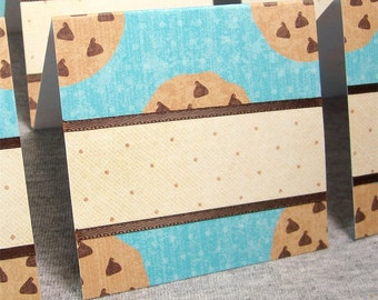 Chocolate Chip Cookie Blank Cards 3x3 (8)