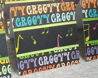 Groovy Music Blank Cards WITH Envelopes 3x3 (8)