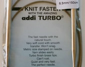 "Addi Turbo Circular Needle U.S. 10.5/6.5 mm, 60"" long - Buy 4 get 1 free"