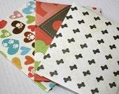 Dog Lover Handmade Envelopes, Notecards included, Set of 3