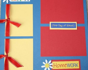 REDUCED PRICE! ~ Back to School Premade Page, 12 x 12, Grade School, Elementary School