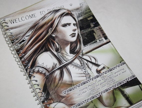 SALE! ~Bella Twilight Themed Notebook/ Journal, Vampires - First Day of School, Upcycled