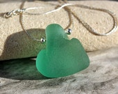 TEAL genuine seaglass necklace.