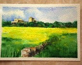 SPRING original watercolor painting.