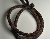 Necklace Choker -- Celtic Round Spanish Leather Choker, Spanish leather