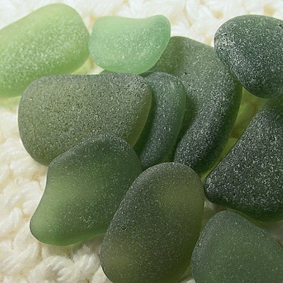 Sea glass Seaglass -- 10 Herb Garden Pendant Charm Seaglass Gems (SG688) Fresh and Lively