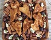 Rustic Spice Hearts,Primitive,Bowl Filler, Potpourri Add in,Saltdough,Valentine Heart,Decoration,Country Valentine