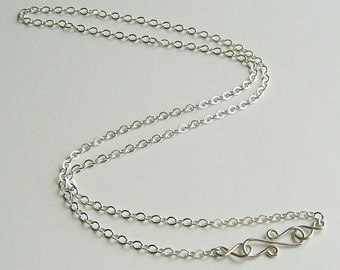 Long Chain Necklace, Sterling Chain, Layering Chain,  Long Necklace,  18 inches to 36 inches, Add a Pendant, Pendant Chain, Neck Chain