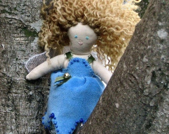 Flower fairy doll, one of a kind, collector's edition, Bluebell