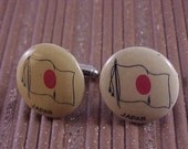 CLOSEOUT Novelty Cuff Links Vintage Japan Flag - Free Shipping to USA