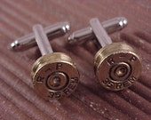 Bullet Cuff Links Remington .35 Brass Rifle Shell Recycle Repurpose Upcycle