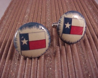 SALE Cuff Links Vintage Texas State Flag - Free Shipping to USA