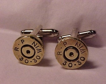 Bullet Cufflinks / Remington Arms 30-30 Rifle Cuff Links / Wedding Cufflinks / Real Bullet Cufflinks / Groomsmen Gift / Fathers Day Gift