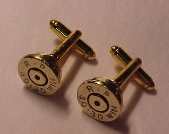 Bullet Cufflinks / Remington Arms 30-30 Rifle Cuff Links / Wedding Cufflinks / Real Bullet Cufflinks / Groomsmen Gifts / Gifts For Men