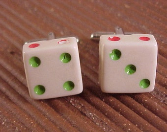 SALE Lucky 7 Dice Cuff Links - Free Shipping to USA