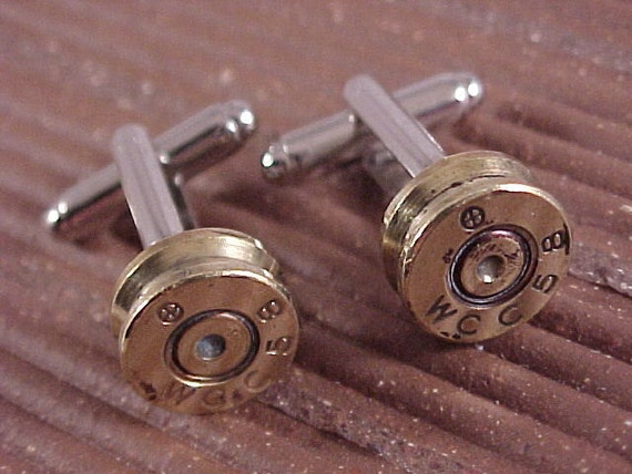 Bullet Cufflinks / Western Cartridge Rifle Shell Cuff Links / Wedding Cufflinks / Groomsmen Gift / Gifts For Dad / Sportsman Gift