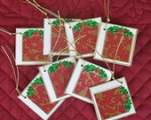 Mini Christmas Tags set of 8