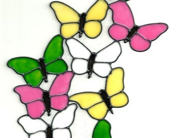 Colorful Butterflies Window Cling