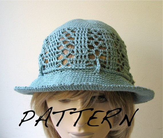Crochet Pattern Sun Hat : Crochet Sun Hat Easy-To-Crochet Pattern in PDF